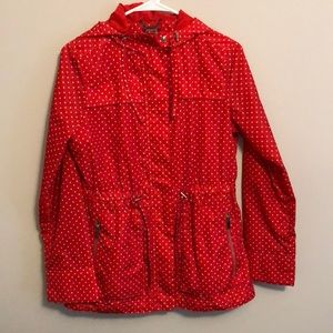 merona polka dot raincoat m